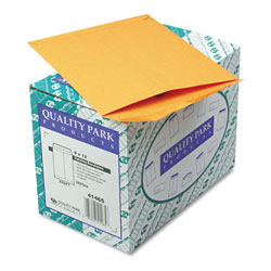 Quality Park Heavyweight Catalog Envelopes, Gummed, Kraft, 28 lb., 9 x 12, 250/Box