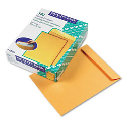 Quality Park Heavyweight Catalog Envelopes, Gummed, Kraft, 28 lb., 10 x 13,100/Box