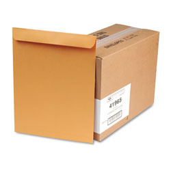Quality Park Heavyweight Catalog Envelopes, Kraft, Gummed, 28 lb., 12 x 15 1/2, 250/Box