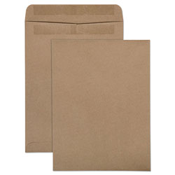 Quality Park 100% Recycled Brown Kraft Envelopes, 9 x 13, Light Brown, 100/Box