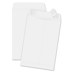 "Quality Park Redi-Strip Envelopes, Plain, 6-1/2"" x 9-1/2"", 100/BX, White"