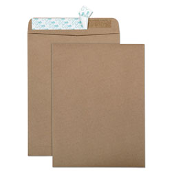 Quality Park 100% Recycled Brown Kraft Envelopes, 9 x 12, Light Brown, 100/Box