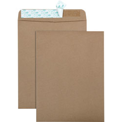 Quality Park 100% Recycled Brown Kraft Envelopes, 10 x 13, Light Brown, 100/Box