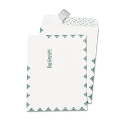 Quality Park Catalog Envelopes, White with First Class Border, 10 x 13, 100/Box