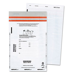 Quality Park Tamper-Evident Deposit Bags, 12 x 16, White, 100 per Pack