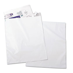 Quality Park Recycled Jumbo Plain White Poly Mailers, Redi Strip™ Closure, 14 x 19, 100/Pack