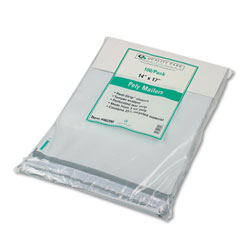 Quality Park Recycled Jumbo Plain White Poly Mailers, Redi Strip™ Closure, 14 x 17, 100/Pack