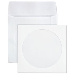 Quality Park CD/DVD Paper Sleeves, 24 lb., White, 100 Sleeves per Box