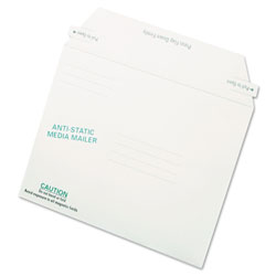 Quality Park Antistatic Diskette/CD/DVD Mailer, 6w x 8-5/8d, 25/Box