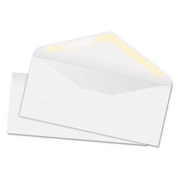 Quality Park White Wove Business Envelopes, 24 lb, #10, Recycled, 100/Box