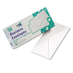 Quality Park White Wove Business Envelopes, 20 lb Stock, #10, 4 1/8 x 9 1/2, 50/Box