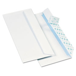 Quality Park Security Tinted Redi-Strip Envelope, #10, 24 lb., White, 1000/Pack