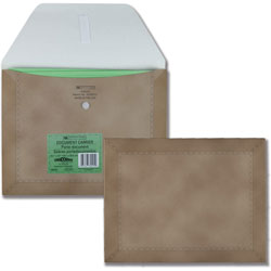 Quality Park Designer Document Carrier, Expanding, Letter Size, 9 1/2 x 12, Brown
