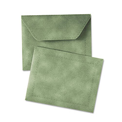 Quality Park Document Carrier, Letter, Two Inch Expansion, Green, 1/ea