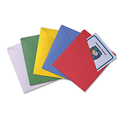 Quality Park Slash View Organizers, Letter Size, Assorted Colors, 25/Pack