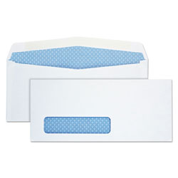 Quality Park Security Window Envelopes, Contemporary Seam, #10, 4 1/8 x 9 1/2, 500/Box