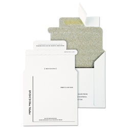 Quality Park Recycled Disk/CD Mailers with Foam Lining, 5 x 5, 25/Box