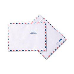 Quality Park Airmail Envelopes, White, Red & Blue Border, 100/Box, 10 x 13