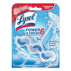 Lysol Power & Fresh6 Automatic Toilet Bowl Cleaner, Ocean Fresh, 1.37oz Clip-on, 6/Ctn