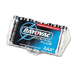 Rayovac Industrial PLUS Alkaline Batteries, AAA, 8/Pack