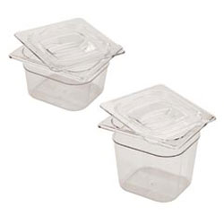 Rubbermaid Clear Cold Food Pan Cover with Peg Hole, 1/6 Size