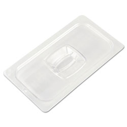 Rubbermaid Clear Cold Food Pan Cover with Peg Hole, 1/3 Size