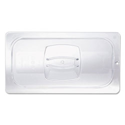 Rubbermaid Clear Cold Food Pan Cover with Peg Hole, 1/2 Size