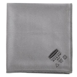 Rubbermaid Executive Glass Microfiber Cloths, Gray, 16 x 16, 12/Pack