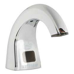 Rubbermaid One Shot Soap Dispenser - Touch Free, Chrome, 2 lbs, 4/CT