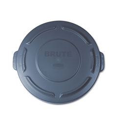 Rubbermaid Brute Round Container Lid, Gray