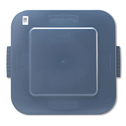 "Rubbermaid Brute Square Lid, 26 x 24 x 2 1/5"", Gray"