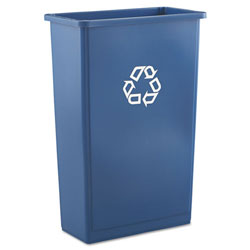 Rubbermaid Blue Recycling Container, 15.9 Gallon