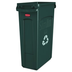 Rubbermaid Green Recycling Container, 23 Gallon