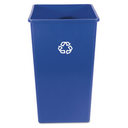 Rubbermaid Recycling Container, Square, Plastic, 50 gal, Blue
