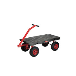 Rubbermaid 5th Wheel Wagon Truck 24x48 Pneumatic Wheels Bla