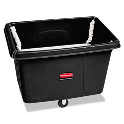 Rubbermaid 500 Pound Black Plastic Laundry Tilt Cart