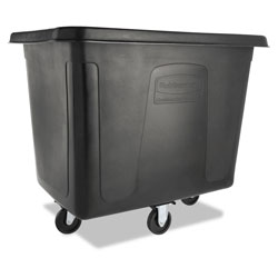 Rubbermaid 500 Pound Black Plastic Tilt Cart