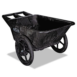 Rubbermaid 300 Pound Black Plastic Tilt Cart