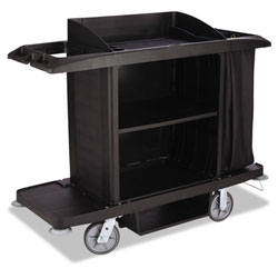 Rubbermaid 6189 Full Size Housekeeping Cart, Black