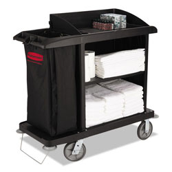 Rubbermaid Black Compact Housekeeping Cart 49 X 22 X 50