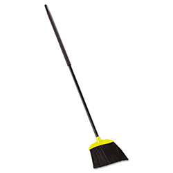 Rubbermaid Jumbo Smooth Sweep Angled Broom, 46-in Handle, Black/Yellow
