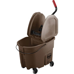 Rubbermaid 35 Quart Bucket/Wringer Combo, Brown