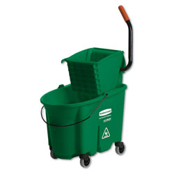 Rubbermaid 35 Quart Side-Press Wringer/Bucket Combo, Green