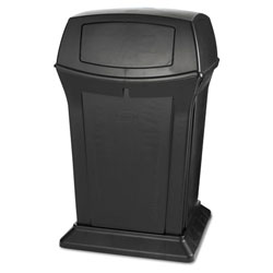 Rubbermaid Ranger Fire-Safe Container, Square, Structural Foam, 45 gal, Black