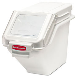 Rubbermaid White 100 Cup Safety Storage Bin with 2 Cup Scoop