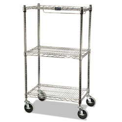 Rubbermaid ProSave Shelf Ingredient Bin Cart, Two-Shelf, 26w x 18d x 47 3/4h, Chrome