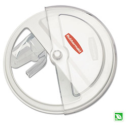 Rubbermaid Prosave Sliding Lid w/3 Cup Scoop Fits 2620 White, 1