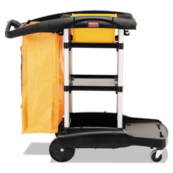 Rubbermaid Black High-Capacity Cleaning Cart