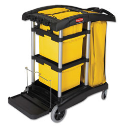 Rubbermaid Black Microfiber Disinfecting Janitors Cart