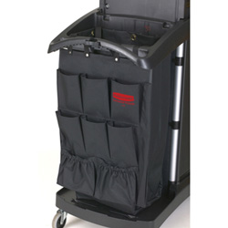 "Rubbermaid Organizer for Cleaning Carts, 9-Pocket, Fabric, 28""x19 3/4""x1 1/2"", Black"